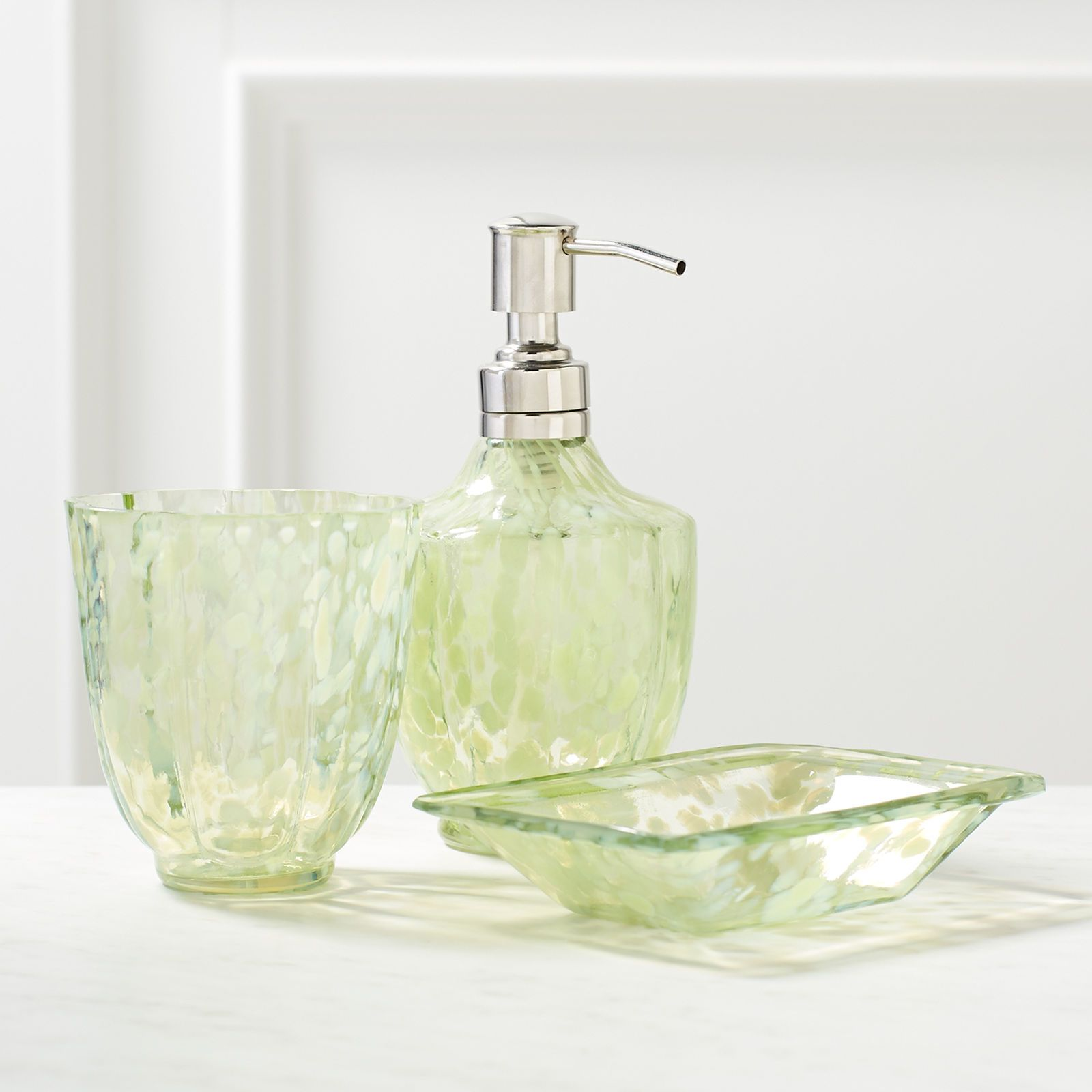 Update your bathroom with our glass Zuri Bath Accessories ...