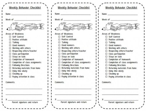 Print This Weekly Behavior Checklist For Students Balance Your Classroom Management Plan With A Motivational Reward System