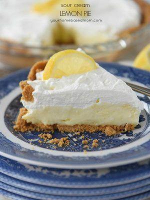 Sour Cream Lemon Pie Your Homebased Mom Sour Cream Lemon Pie Recipe Lemon Sour Cream Pie Lemon Pie Recipe