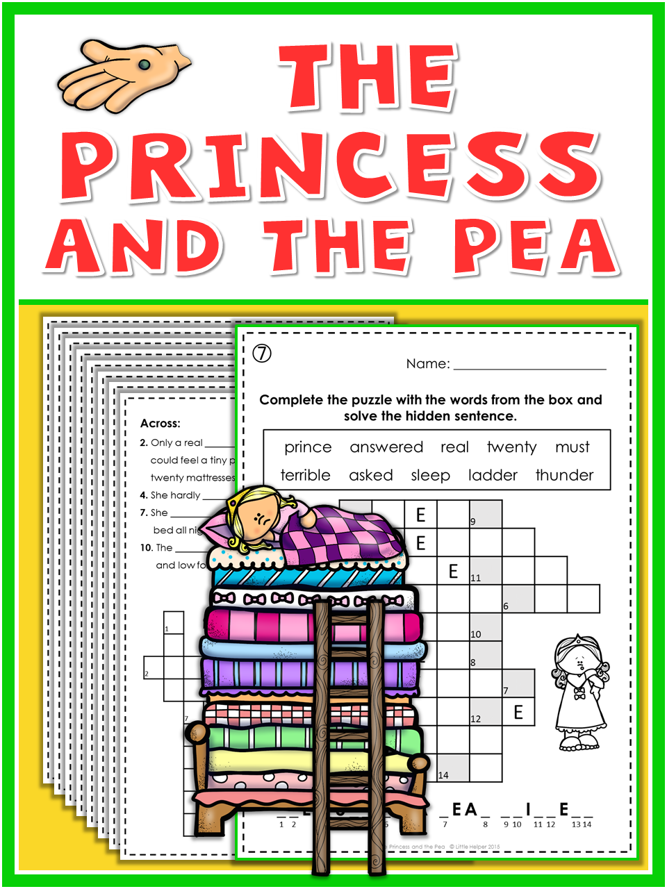 Princess and the pea writing activities