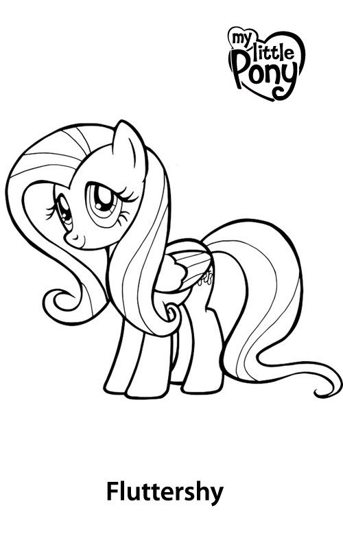 Fluttershy Coloring Pages | Cartoon Coloring Pages | Pinterest ...