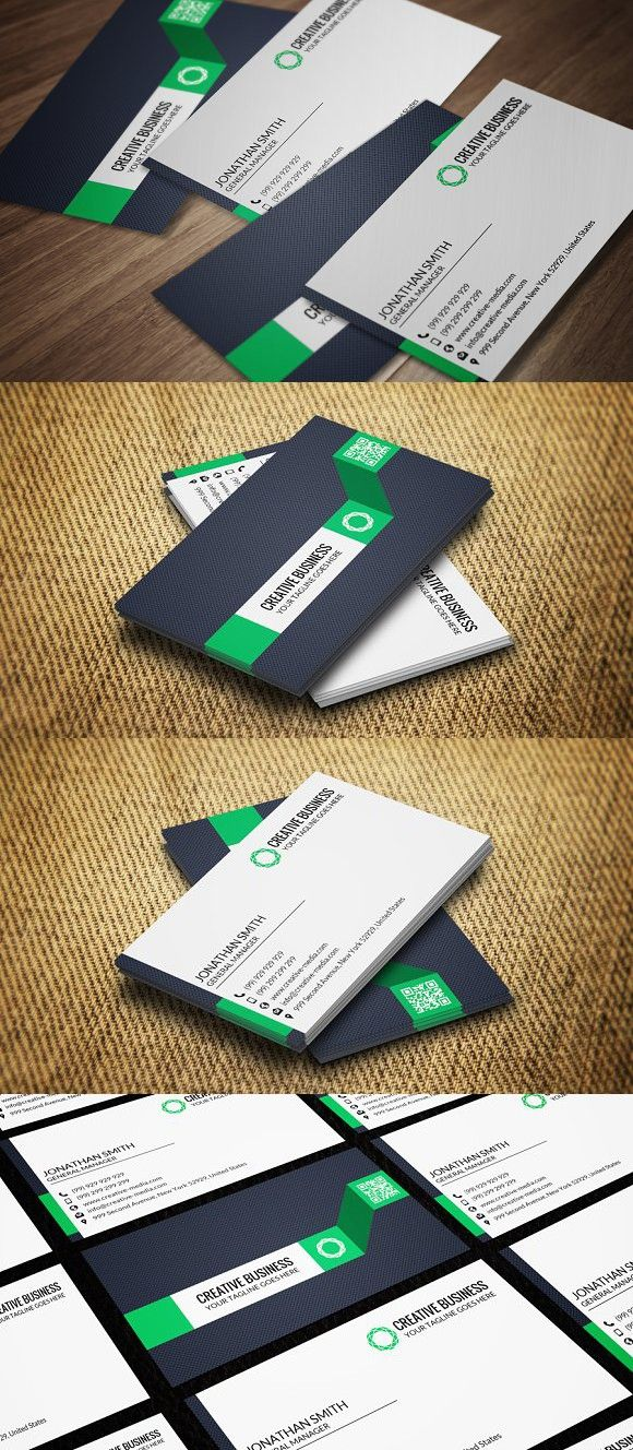 Corporate Business Card CM024. Creative Business Card Templates