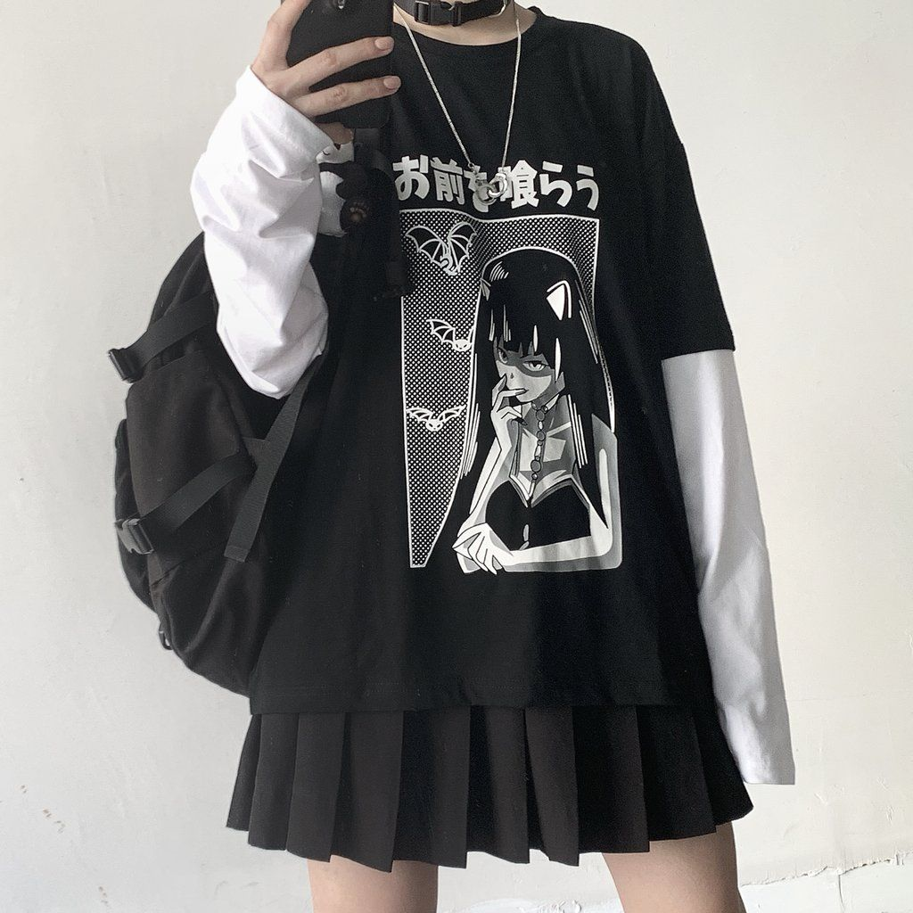 Dark Girl Long Sleeve T Shirt Yc22171 Aesthetic Clothes Edgy Outfits Fashion Inspo Outfits