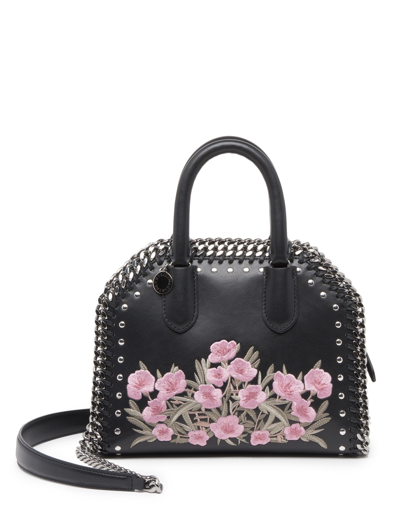 Stella McCartney Falabella Box Embroidered Faux Leather Top-Handle Satchel 87c057d0b61c5