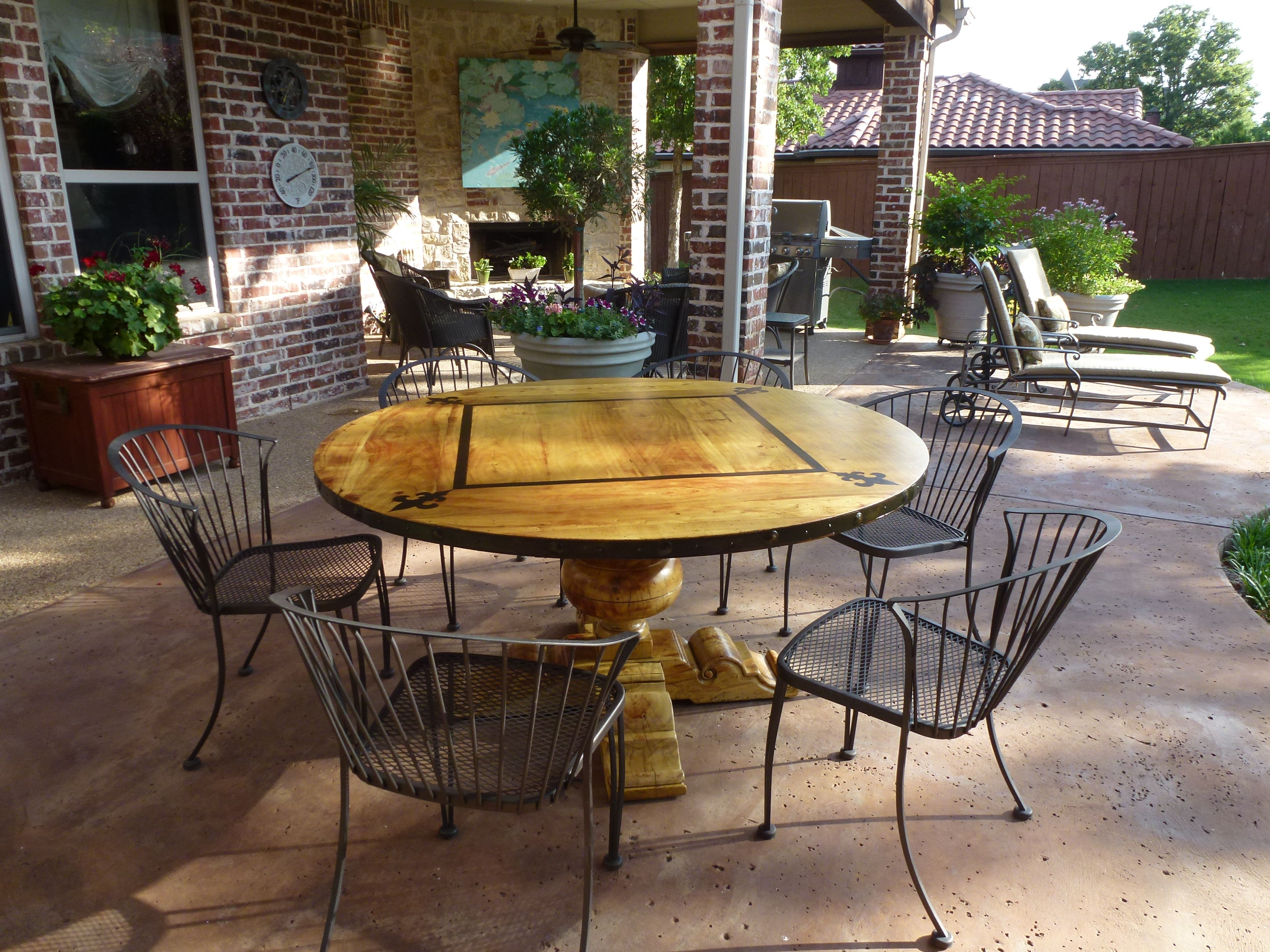 I used Epifanes varnish to refinish this wooden table for outdoor use.  I applied the varnish over Restor-it Clear Penetrating Epoxy Sealer.  See before/after pics on my facebook page with more info about the project.  You can find it under Photos/Albums/Patio Refinishing Project.