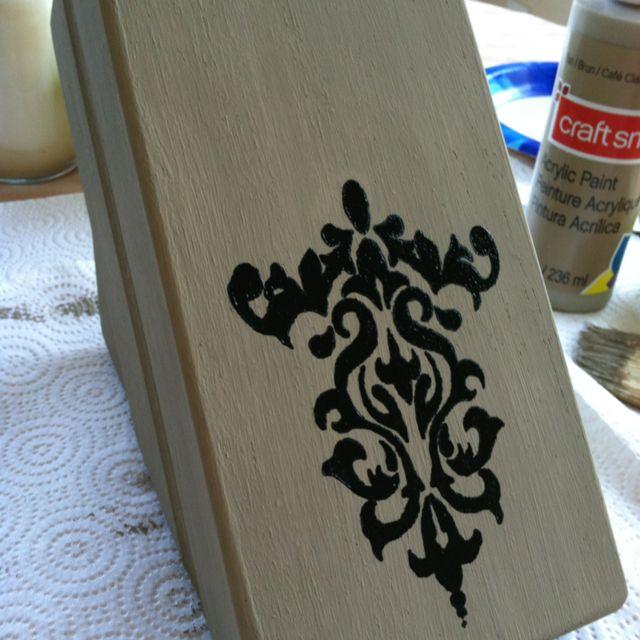Painted Knife Block: Repurposed Wooden Knife Block