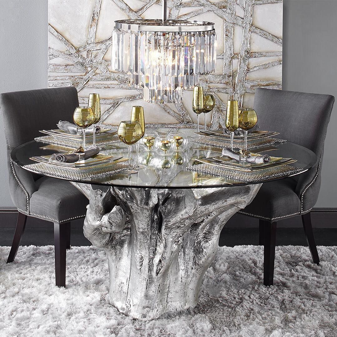 Find The Silver Lining With A Brilliant Burst Of Metallics In Your Dining Room All Tables Tableware Are Dining