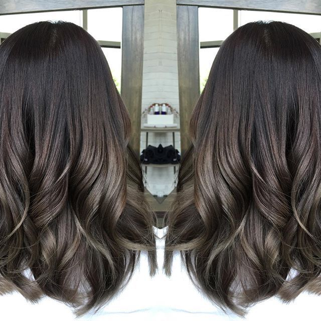 image result for asian ash brown balayage hair alicia