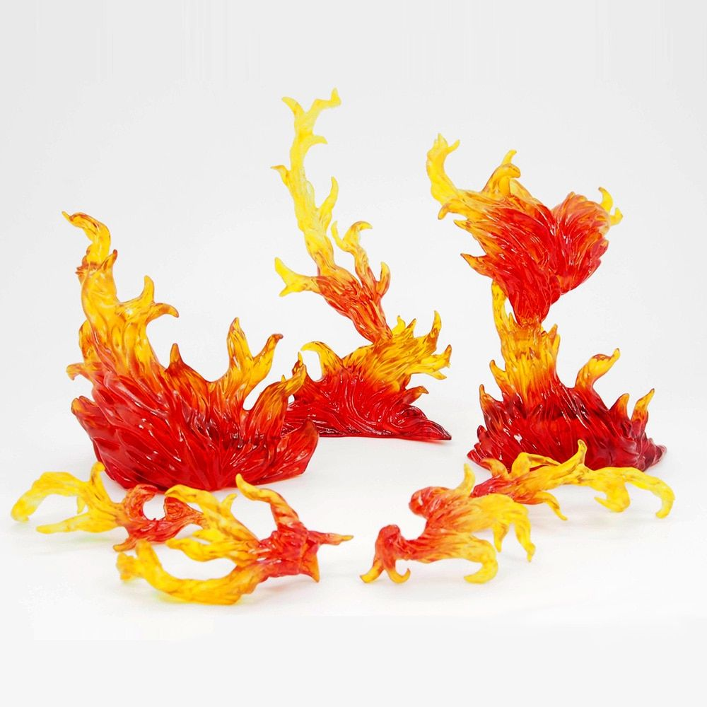 S.H.Figuarts Tamashii EFFECT BURNING FLAME Yellow Figma Kamen Rider Saint Seiya