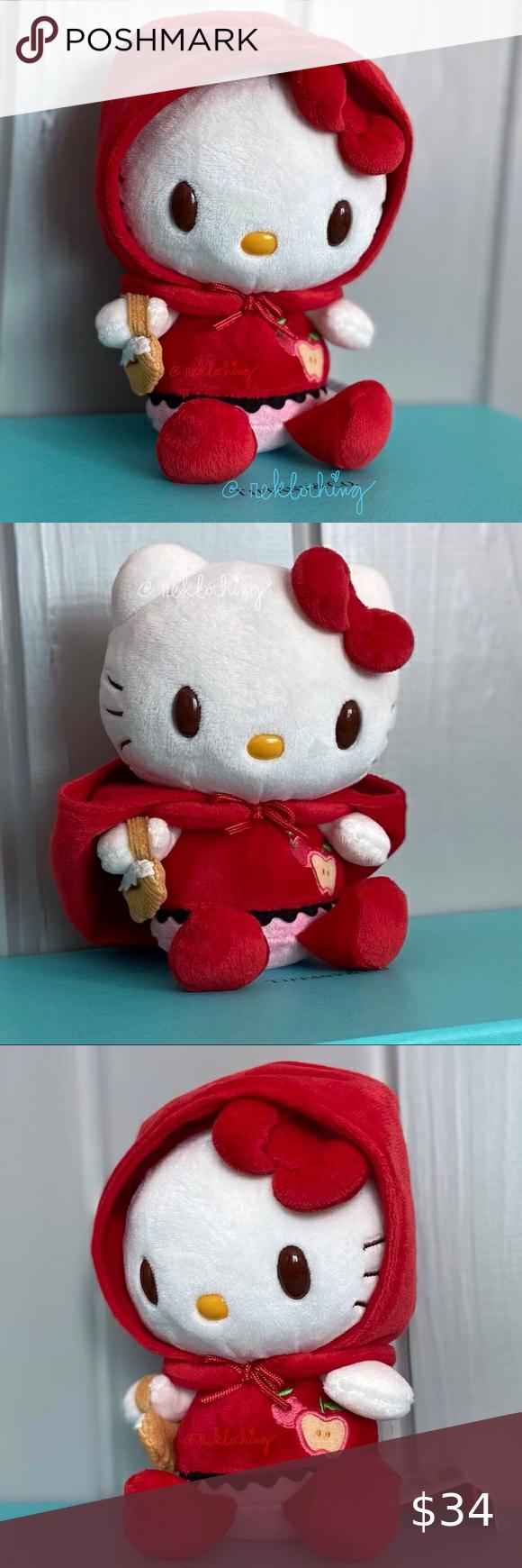 Sanrio Hello Kitty Little Red Riding Hood Plush Hello Kitty Plush Collectable Plush Sanrio Hello Kitty [ 1740 x 580 Pixel ]
