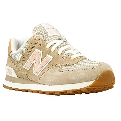 New Balance WL574V1, Damen Sneakers, Braun (Brown/Pink), 41.5 EU