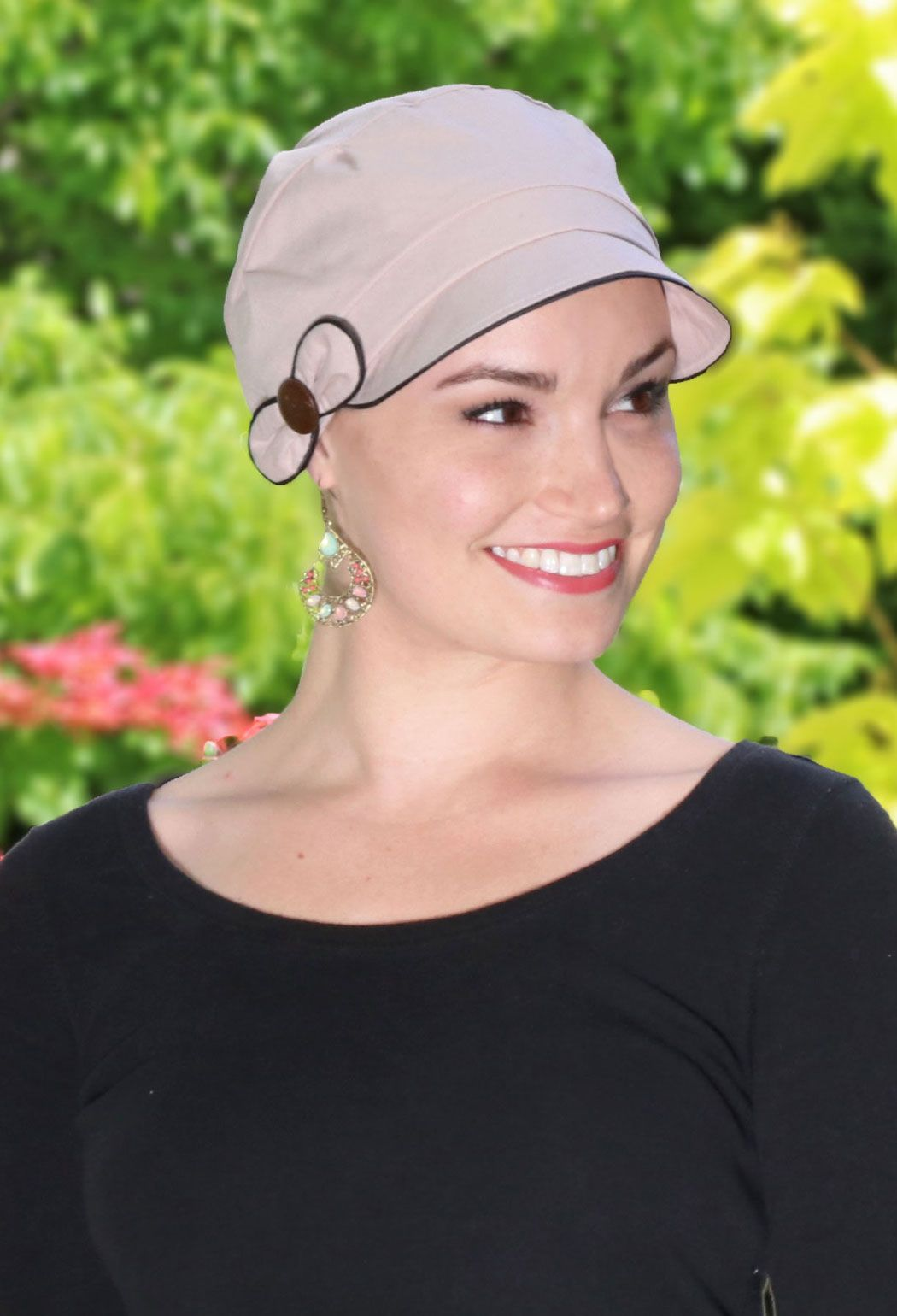 f6582c7fe7882 Barcelona soft cotton hat for women with small heads. Perfect coverage for  cancer patients and women with hair loss.