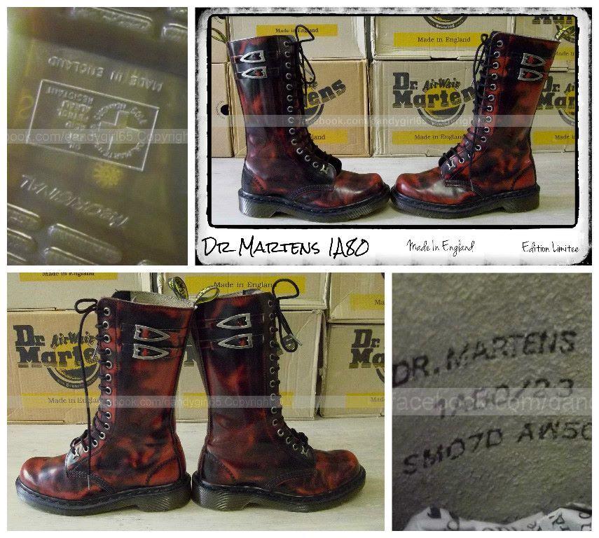 996cdb2ba4dd Dr Martens 1A80 Uk4 Eu37 14 trous Made In England - Edition Limitée -  Vintage - ☠ Dr. Martens Collection Personnelle ☠ Pas à vendre ☠  dandygirl65