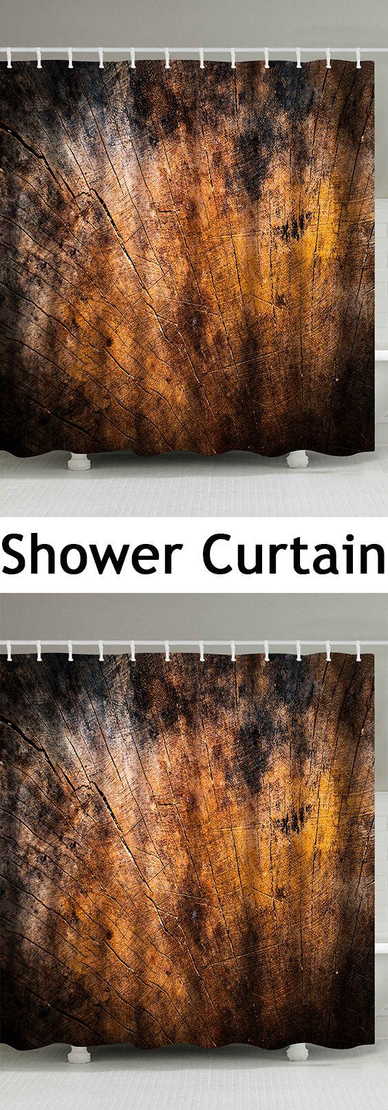broken wood fabric extra long shower curtain | home decor online