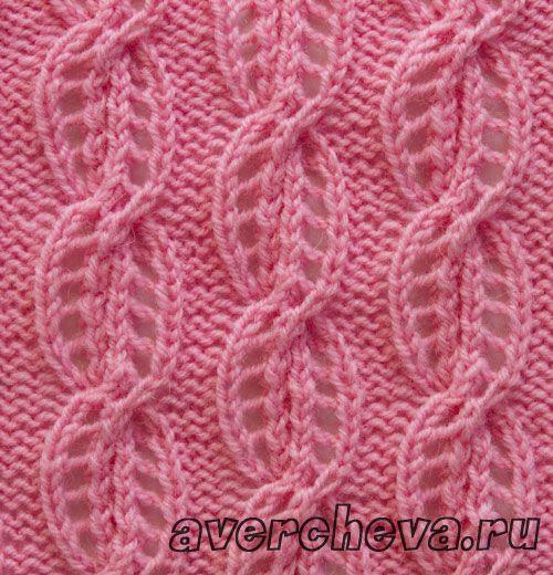 Stitch pattern with chart in Russian Knitting Stitch Patterns Pinterest ...