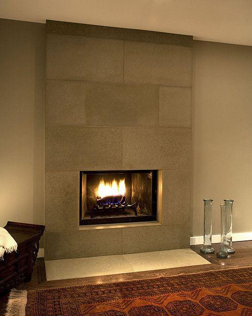 Cast Concrete Tiled Fireplace In Portobello Tiled