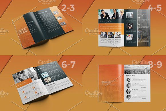 Clean Business Brochure Pages  Business Brochure Brochures And