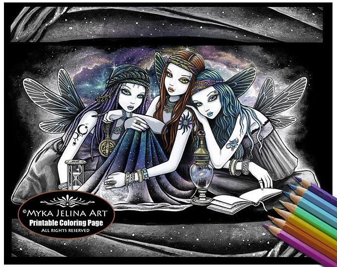 Alisha Candy Fairy Digital Download Coloring Page Line Art ...