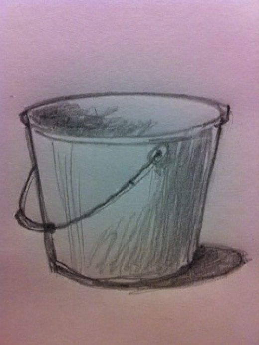 How To Draw A Bucket Bucket Drawing Beer Drawing