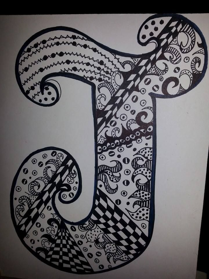 """Another started, but unfinished doodle, brought to by the letter """"J"""""""