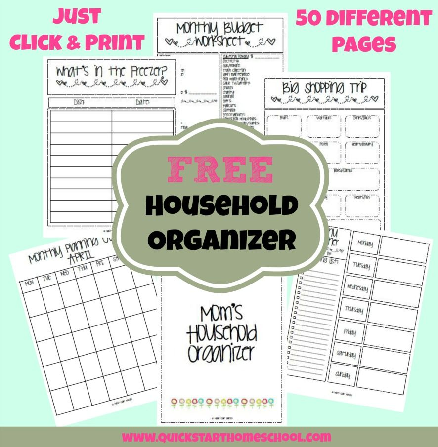 FREE Household Binder System -- Download 50 Blank Pages