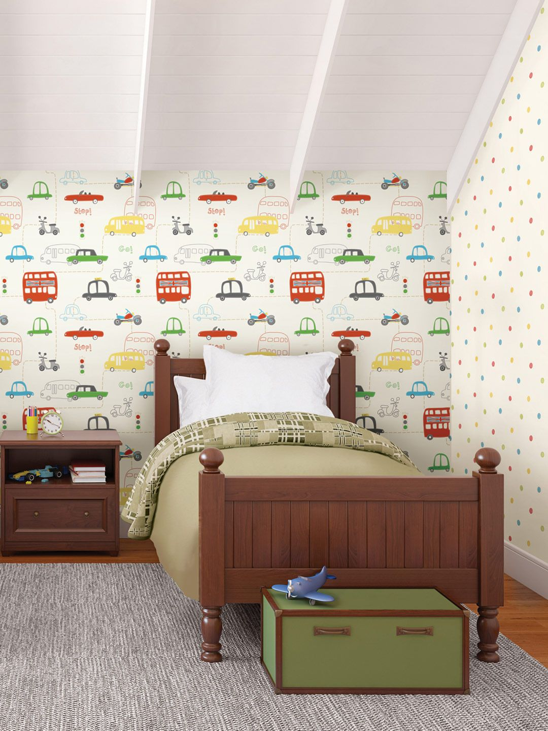 Kids Room Wallpaper Designs: @Kendall Finlayson Peterson One Wall Of A Boys Room Or The