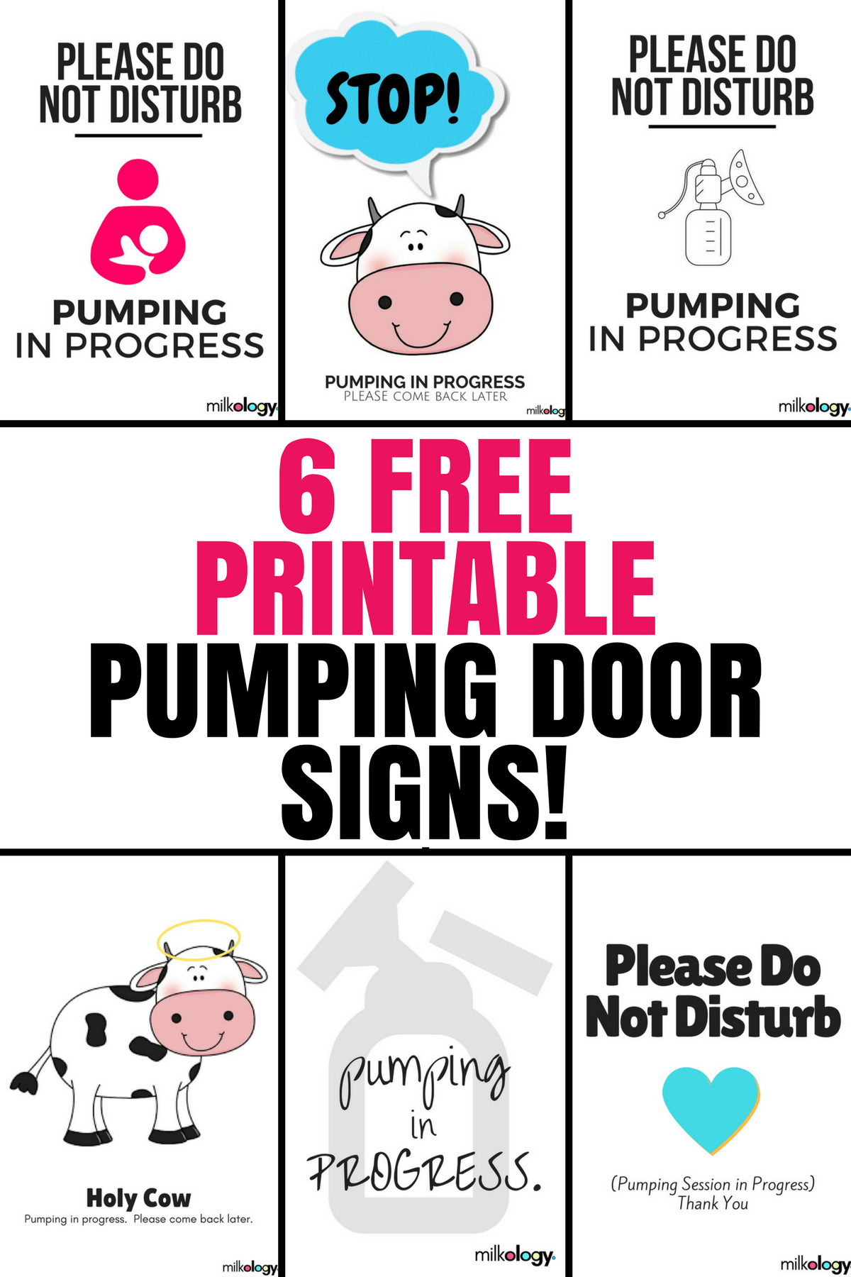 free printable pumping door signs for breastfeeding and pumping