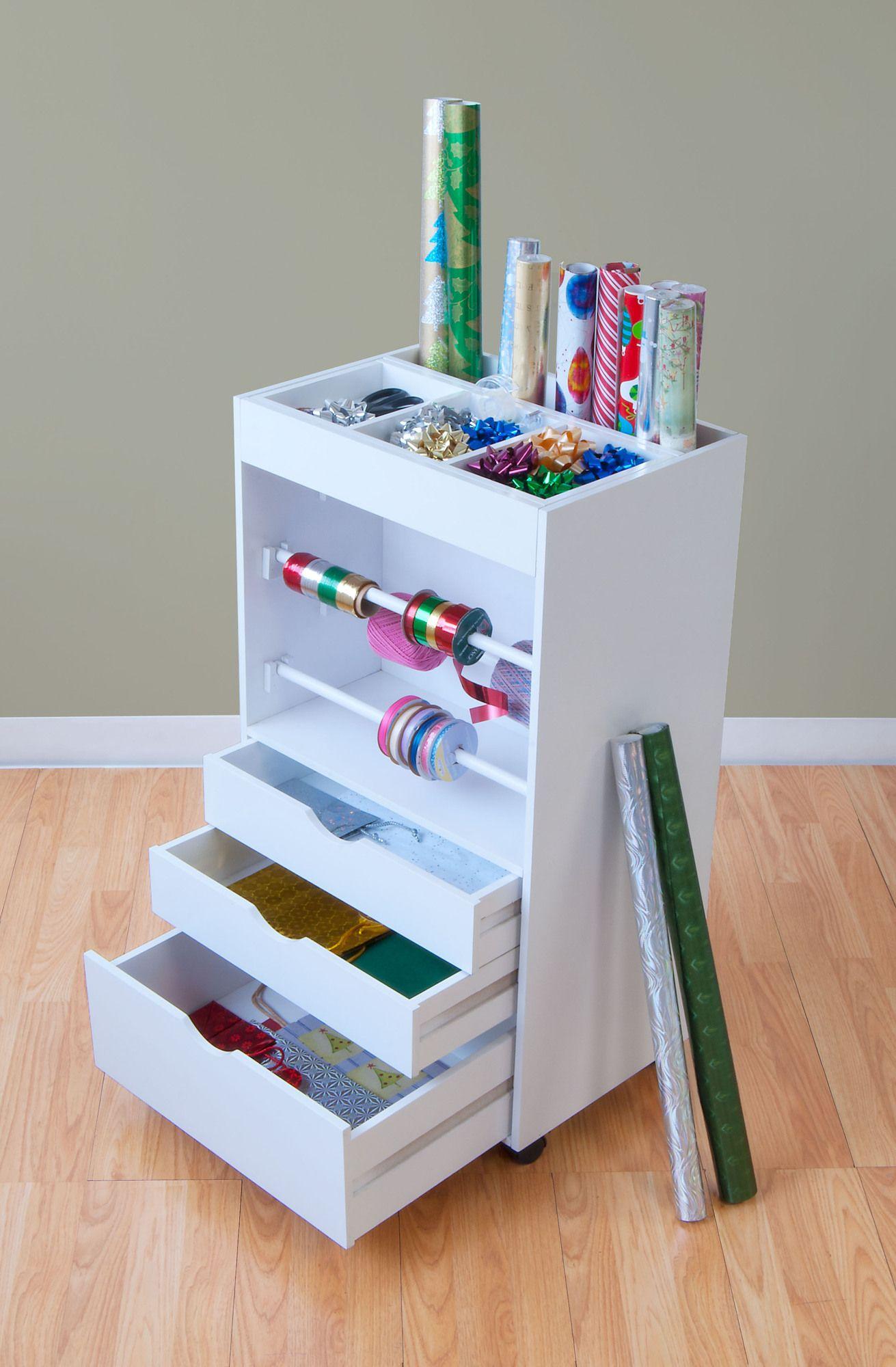 3 Drawer Storage Chest Wrapping Paper Storage Craft Storage