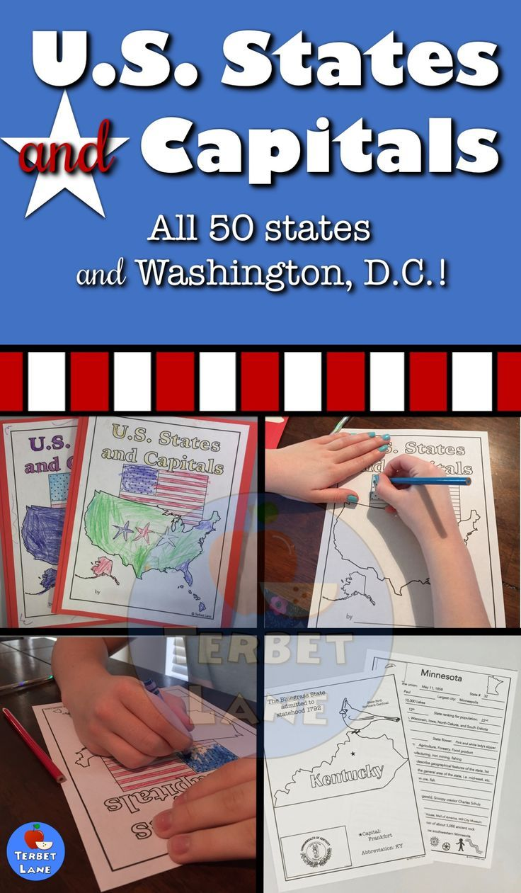 Us States And Capitals Study Pinterest Geography Symbols And