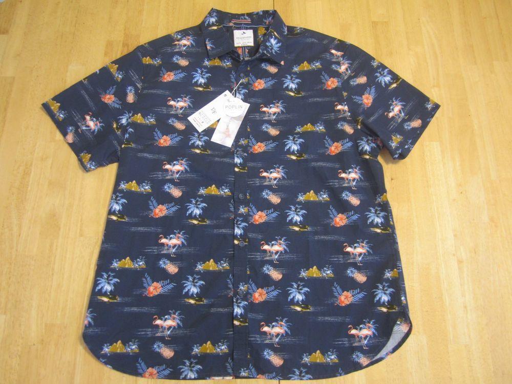 cda33dc95d Denim   Flower Ricky Singh Slim-Fit Button Front Short Sleeve Shirt Size XL  ~NWT  DenimFlower  ButtonFront