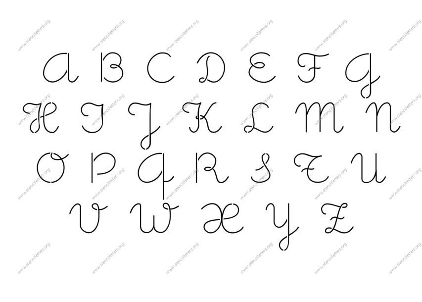 Cute Letter Writing  Cute Girly Cursive Uppercase  Lowercase