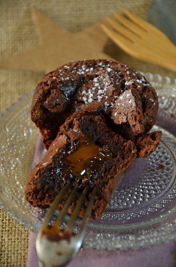 Semi-sweet chocolate heart flowing caramel