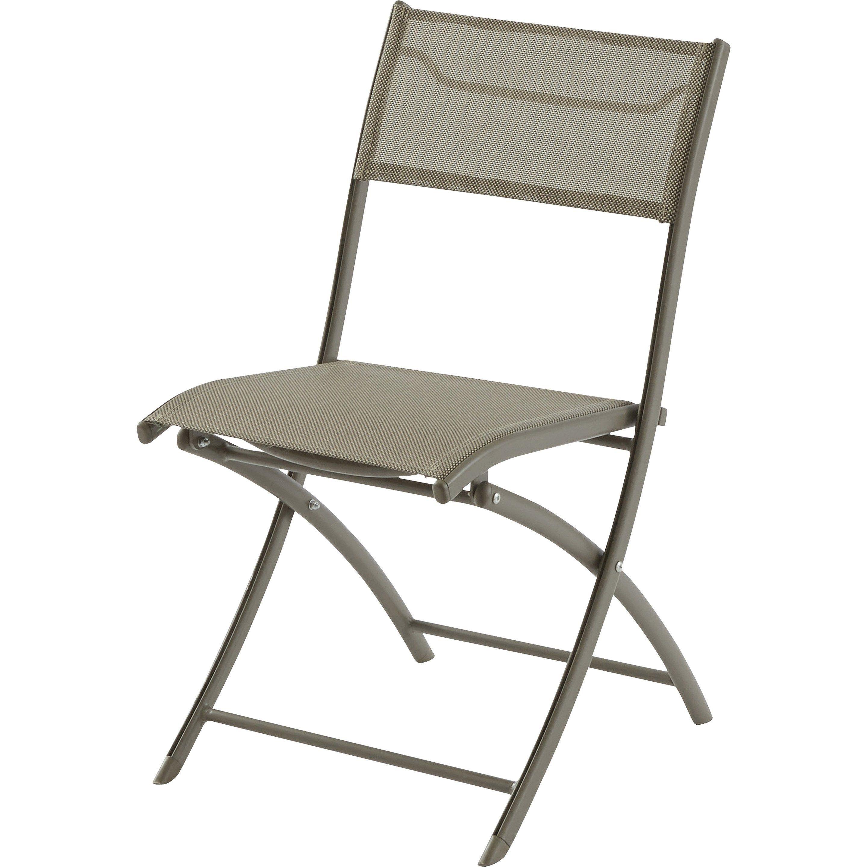 Chaise De Jardin En Aluminium Cappuccino En 2020 Chaise Pliante Chaise De Jardin Chaise Rotin