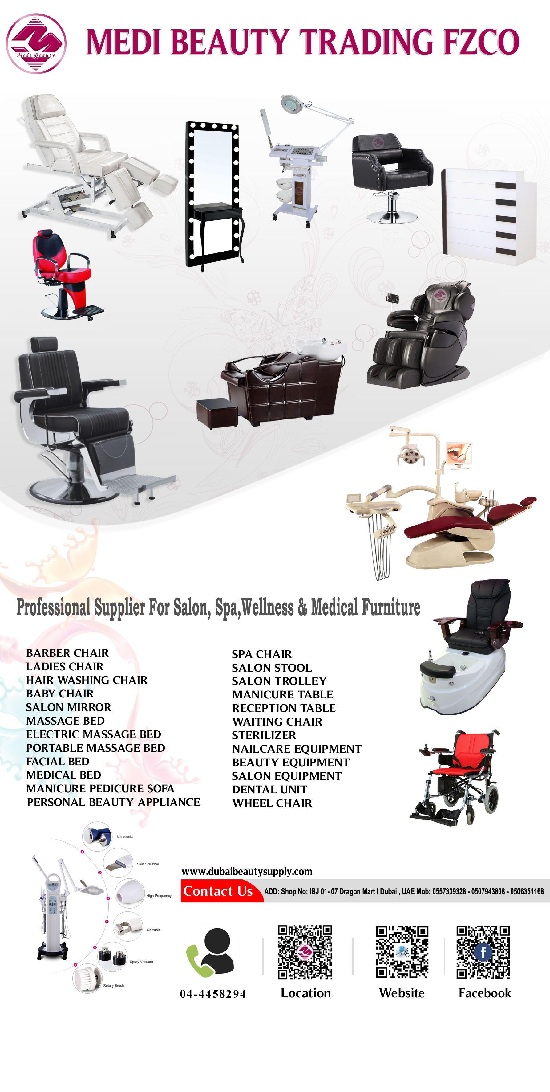 Medi Beauty Trading Products Dubai Uae Salon Furniture Equipments Spa Chairs Massage Beds Salon Furniture Barber Chair