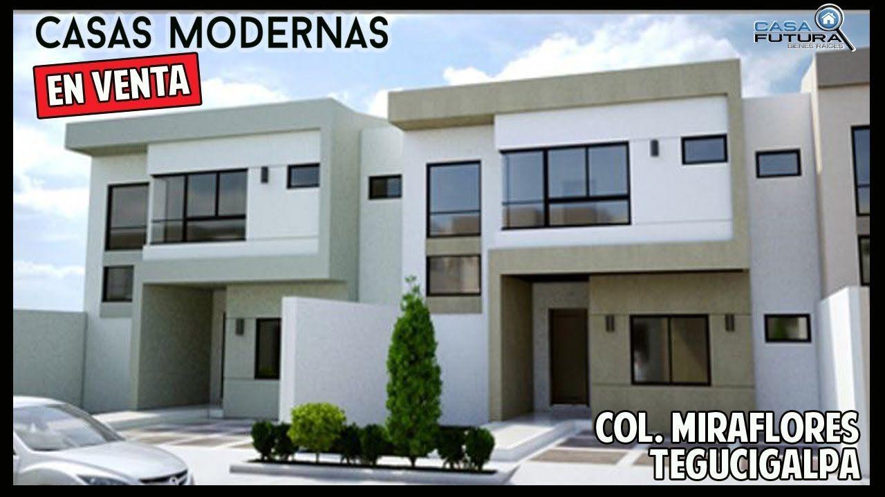Casas modernas en venta en circuito cerrado col for Fachadas de casas modernas en honduras