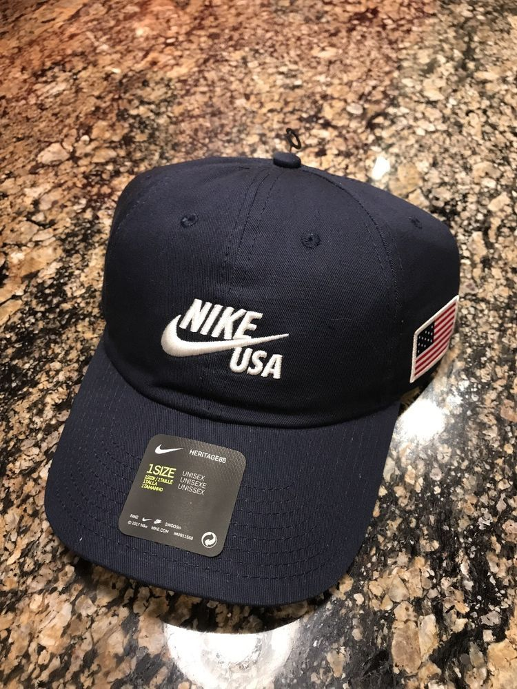 e0b95919790c1 Nike Team USA Olympic Cap Blue OS Unisex Hat AH8491 451  Nike  BaseballCap