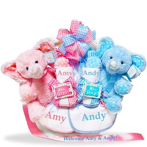 Love times two personalized twin gift basket girl gifts twins and love times two personalized twin gift basket negle Choice Image