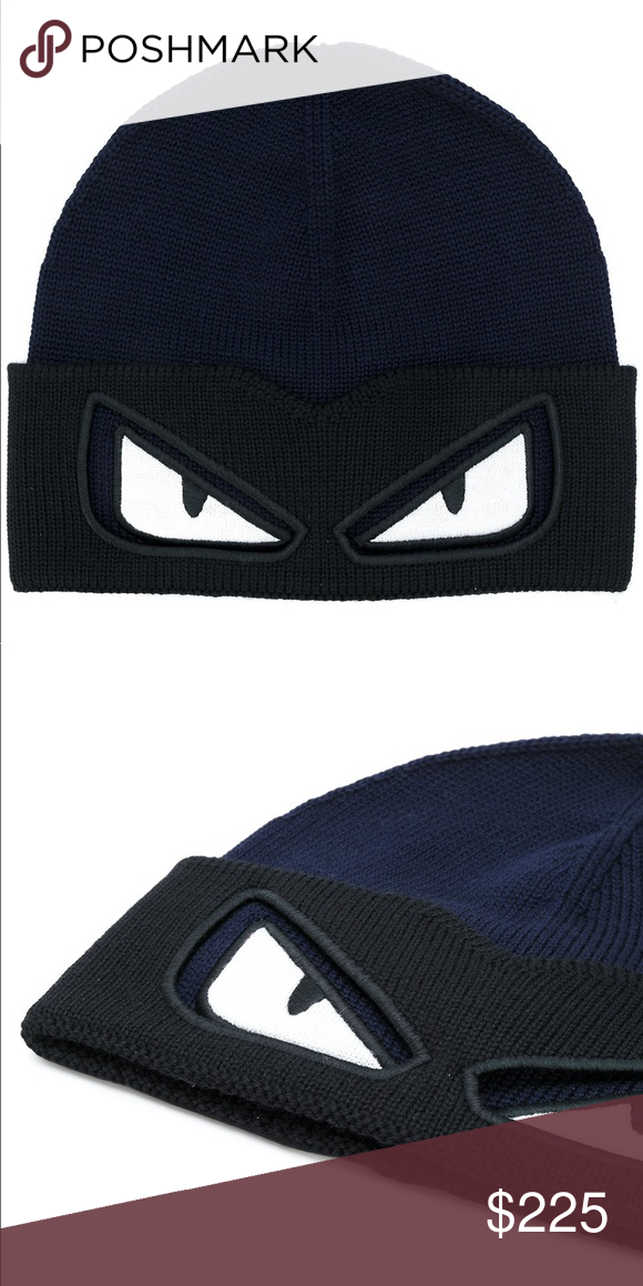 fa9874b8972 FENDI - eyes knitted beanie This was a best seller from the monster cap  collection and