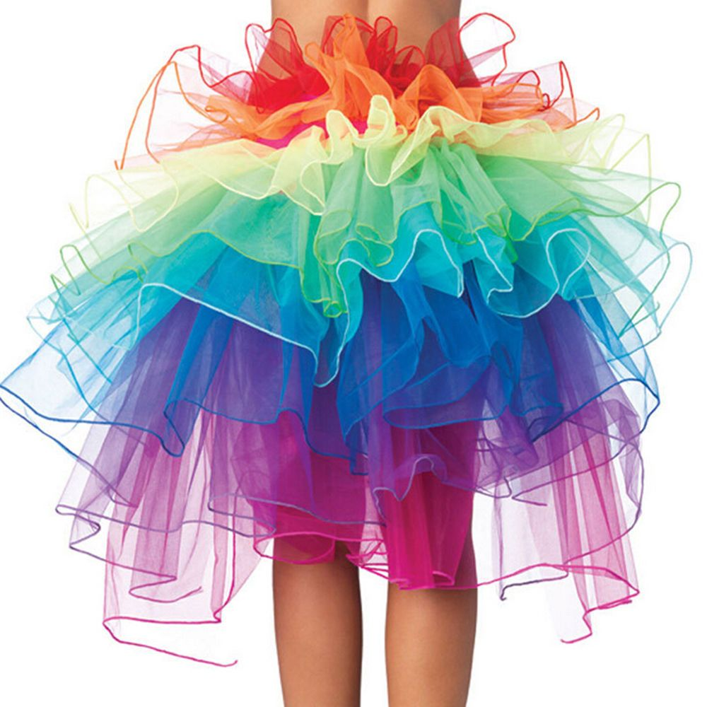 baf0fc530 Rainbow Neon Rave Dance Ballet Tutu Ruffle Tiered Fancy Skirt Clubwear Xmas  CH #Unbranded #Mini #Array