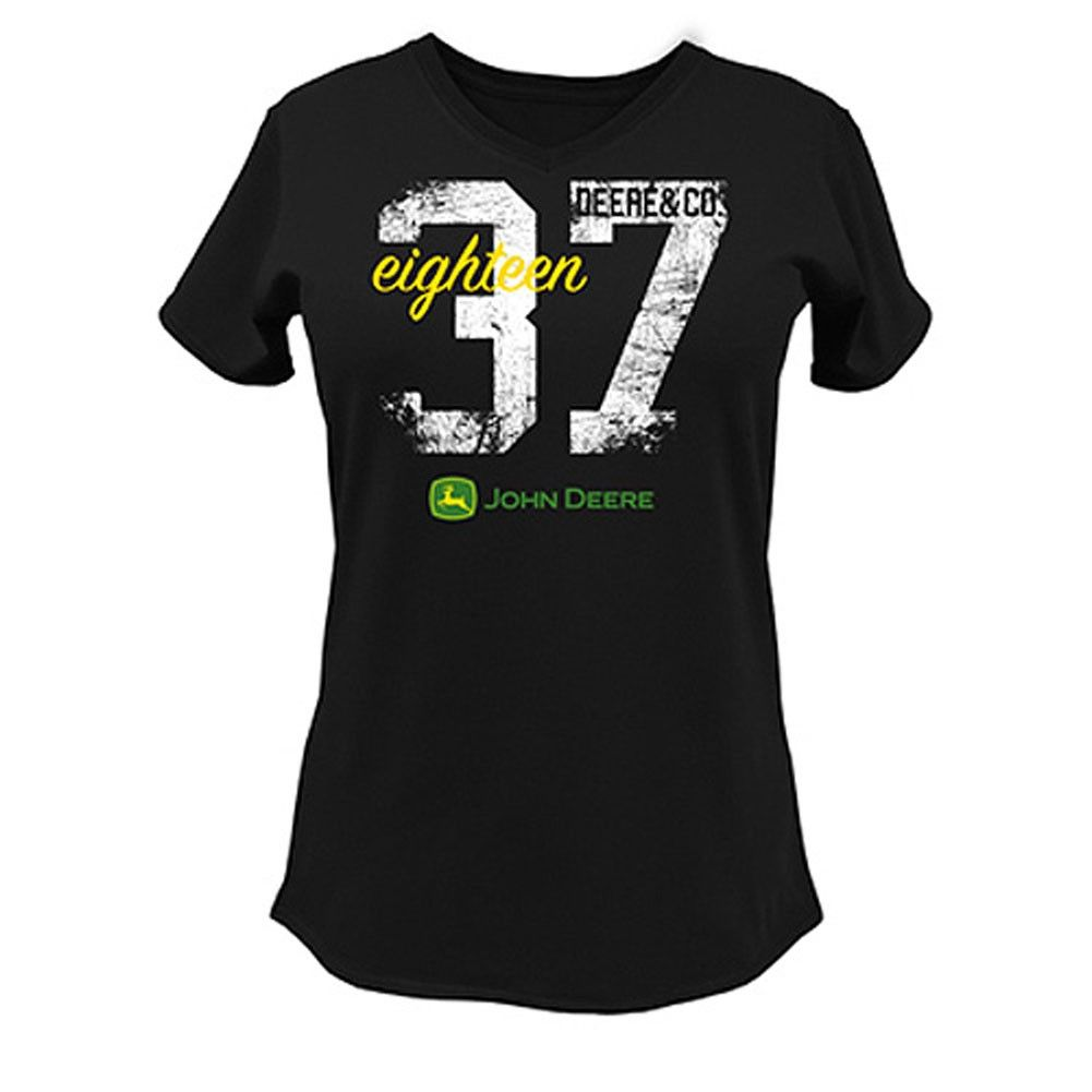 John Deere 1837 V Neck T Shirt Women Clothing Usfarmer