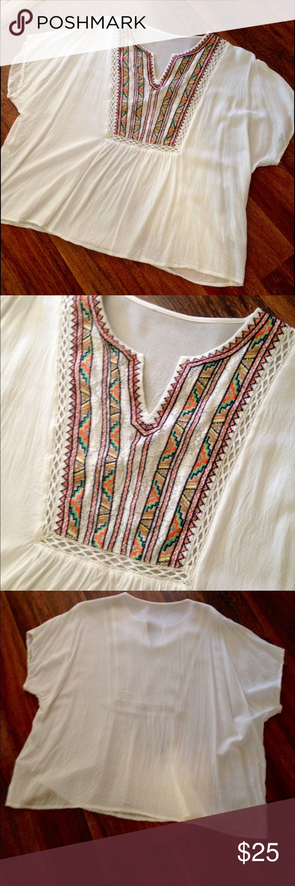 Chelsea & Violet Embroidered Boho Top Chelsea & Violet Embroidered Boho Top. Worn only once and in perfect condition! I did cut out the tag because it was itchy. So cute! True to size! Open to offers! Chelsea & Violet Tops Blouses