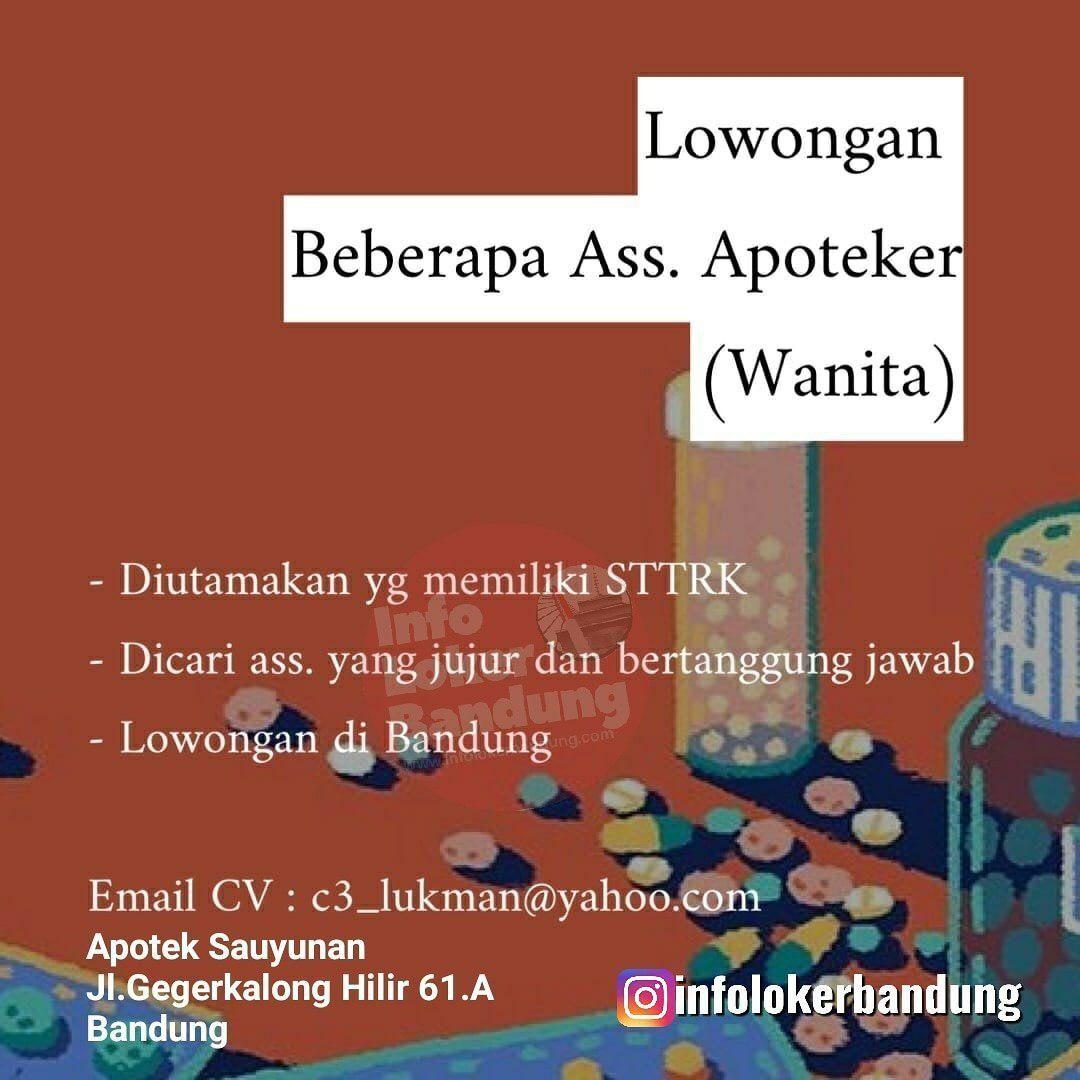 Lowongan Kerja Apotek Sauyunan Bandung April 2019 (Dengan