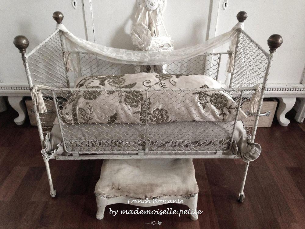 Großartig Antikes Puppenbett Puppen Eisenbett Metall Bett Doll Bed Frankreich Shabby  Deko