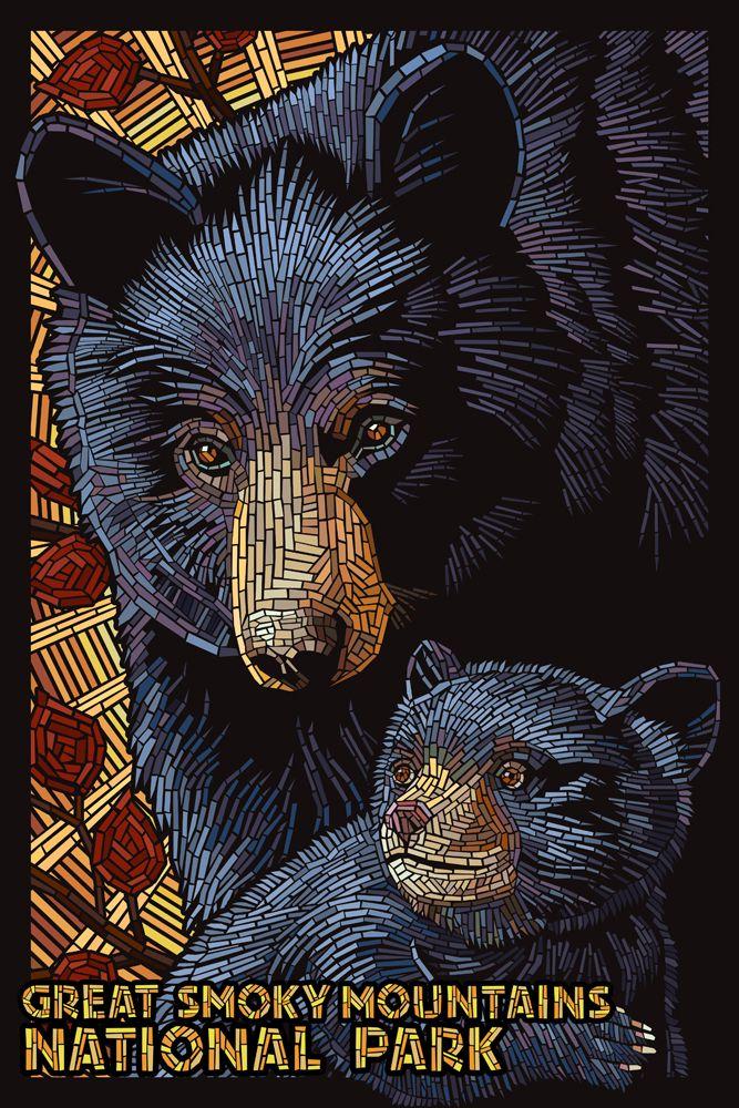 Great Smoky Mountains National Park - Black Bears Mosaic