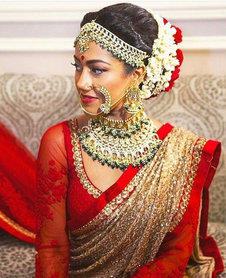 Bridal saree                                                                                                                                                                                 More #Saree;