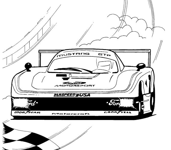Pencil And In Color Drawn Car Formula 1: Modern F1 Track Racing Coloring Page