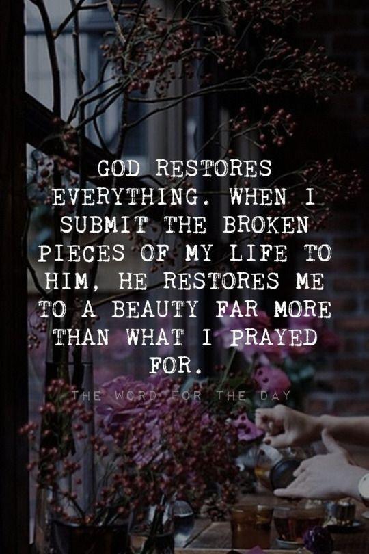 God Restores.