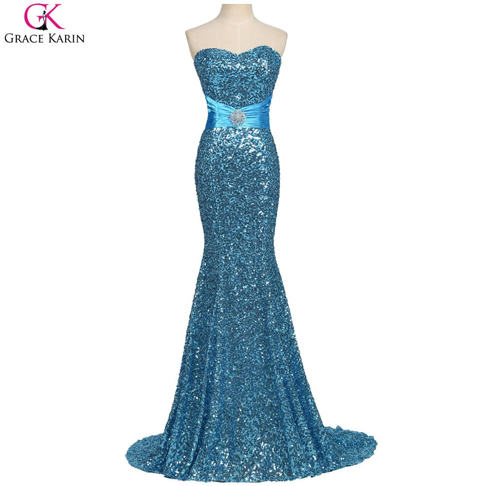 Click to buy ucuc grace karin mermaid evening dresses sequin long