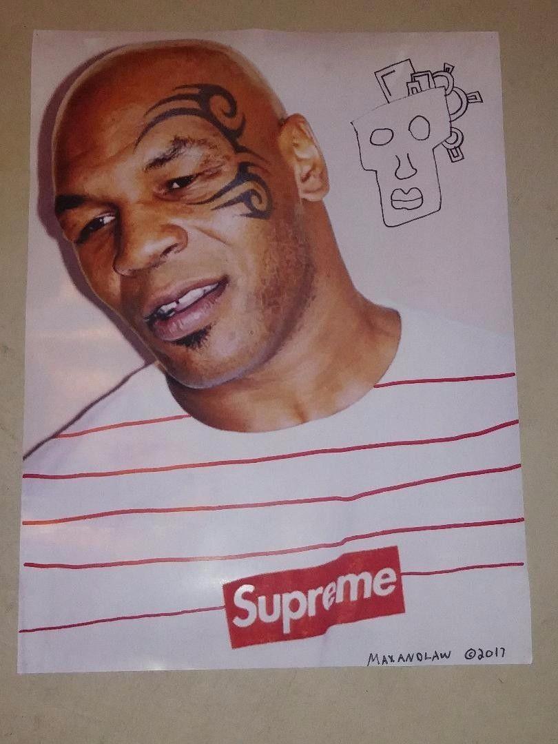 Supreme X Maxandlaw Mike Tyson Poster Supreme Collaboration 18x24 Mike Tyson Poster Tyson