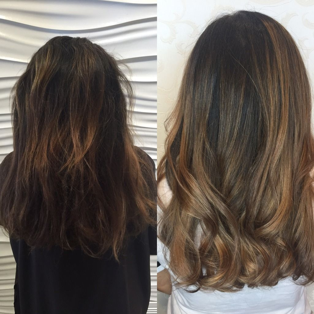Before And After A Balayage And Glazed Treatment Lifestyle Life